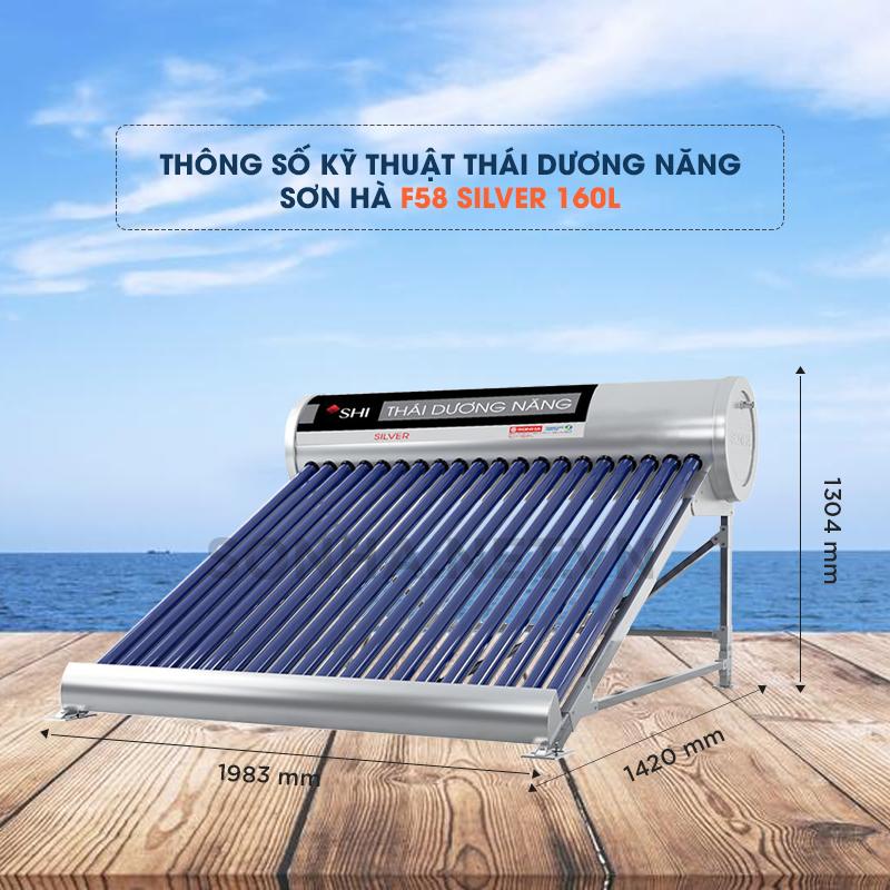 máy nước nóng năng lượng mặt trời silver 160 l