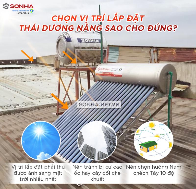 lắp đặt máy năng lượng mặt trời đúng hướng